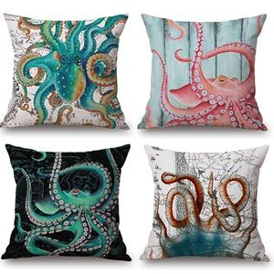 Octopus Sea Marine Pillow Covers